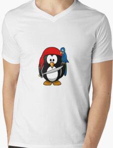 pirate penguin Mens V-Neck T-Shirt