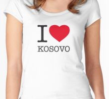 I ♥ KOSOVO Women's Fitted Scoop T-Shirt