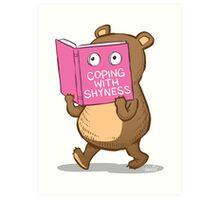 Shy Bear Art Print
