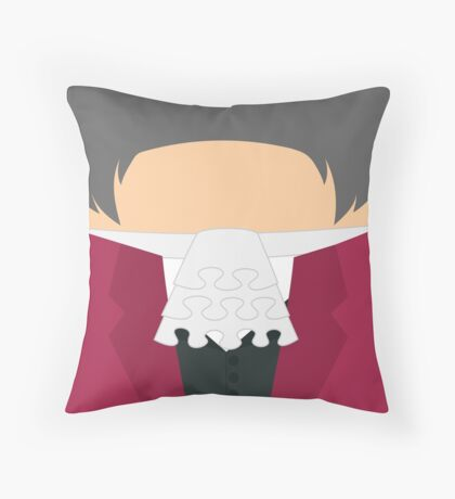 Miles Edgeworth v2 Throw Pillow