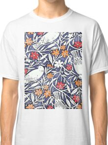 Blue Bird Freehand Sketch Watercolor Background Classic T-Shirt