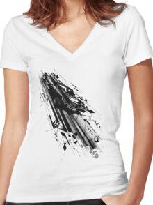 speed mechanism Women's Fitted V-Neck T-Shirt