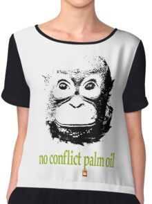 NO CONFLICT PALM OIL Chiffon Top