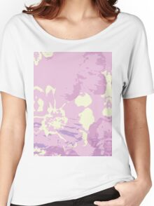 Abstract Flower Painting Women's Relaxed Fit T-Shirt