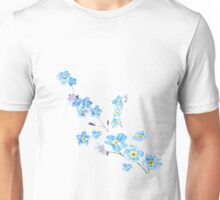 blue forget me not  Unisex T-Shirt
