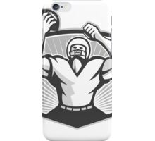 American Football Celebrating Touchdown Grayscale iPhone Case/Skin