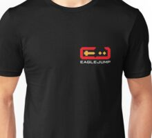 Eagle Jump - White - Corner Print Unisex T-Shirt