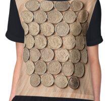 Coins in a Hexagonal Pattern Chiffon Top