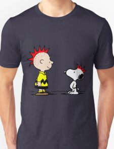 Snoopy and Charlie Brown Punk Unisex T-Shirt