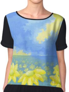 Fields of Sun Chiffon Top