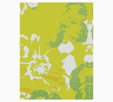 Abstract Flower Painting One Piece - Short Sleeve