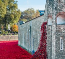 Cascading Poppies, Tower of London Sticker