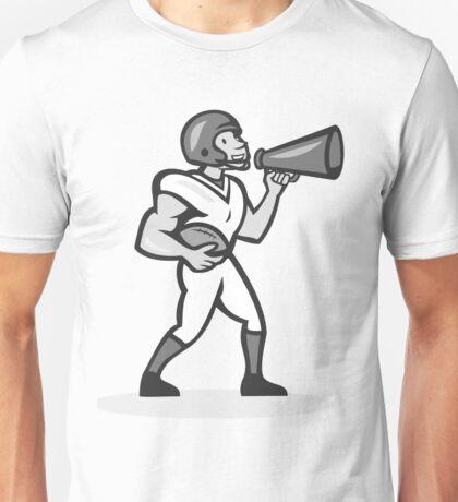American Football With Bullhorn Grayscale Unisex T-Shirt