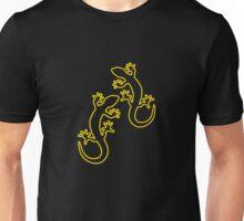 Zwei Geckos gelb Unisex T-Shirt