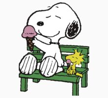 Snoopy and Woodstock Ice Cream One Piece - Short Sleeve