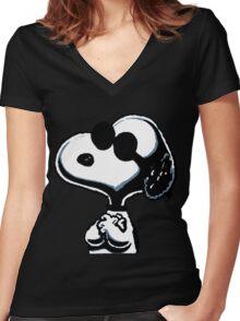 Joe Cool Women's Fitted V-Neck T-Shirt
