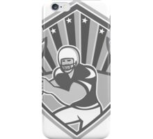American Football Player Shield Grayscale iPhone Case/Skin