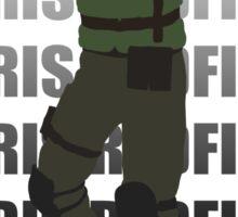 Chris Redfield  Resident Evil Remake version Sticker