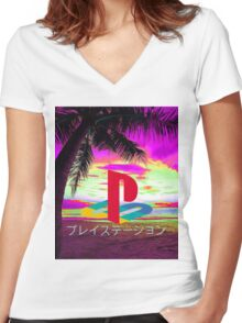 Playstation Women's Fitted V-Neck T-Shirt