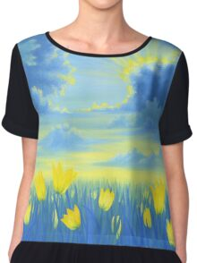 Joyful Sunrise Chiffon Top