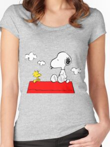 Snoopy & Woodstock Women's Fitted Scoop T-Shirt