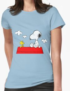Snoopy & Woodstock Womens Fitted T-Shirt