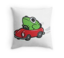 MOTHER 3 FROG IN A CAR - earthbound Throw Pillow