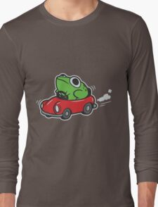 MOTHER 3 FROG IN A CAR - earthbound Long Sleeve T-Shirt