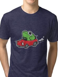 MOTHER 3 FROG IN A CAR - earthbound Tri-blend T-Shirt