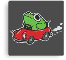 MOTHER 3 FROG IN A CAR - earthbound Canvas Print