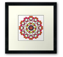 Romantic Vector Floral Pattern Framed Print