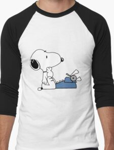 Snoopy Writes Men's Baseball ¾ T-Shirt