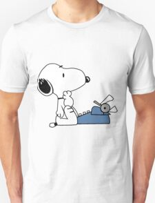 Snoopy Writes Unisex T-Shirt