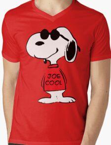 Snoopy Joe Cool Mens V-Neck T-Shirt