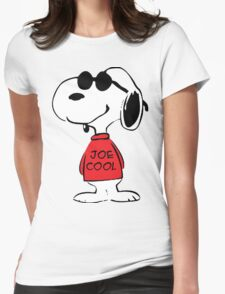 Snoopy Joe Cool Womens Fitted T-Shirt