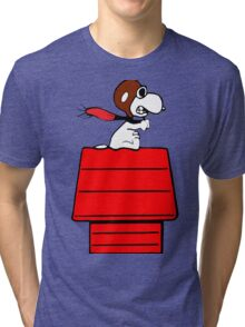 Aviator Snoopy Tri-blend T-Shirt