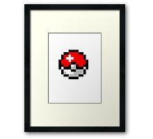 8bit Pokeball Framed Print