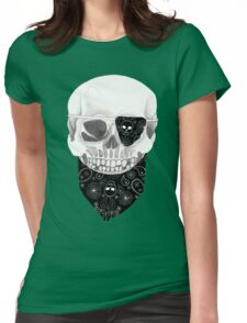 Skull in Flower, Paisley and Skull  Womens Fitted T-Shirt