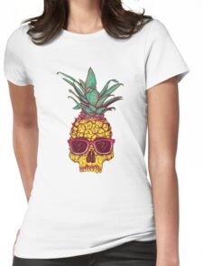 Skull Pineapple Womens Fitted T-Shirt