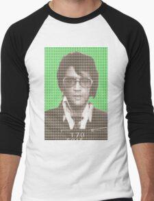 Elvis Mug Shot - Green Men's Baseball ¾ T-Shirt
