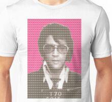 Elvis Mug Shot - Pink Unisex T-Shirt