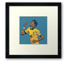 Neymar Jr Framed Print