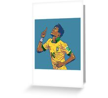 Neymar Jr Greeting Card