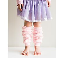 Little girl in pink leg warmers Photographic Print
