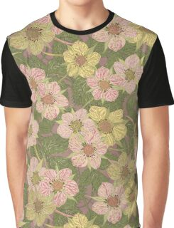 Strawberry Flowers (natural) Graphic T-Shirt