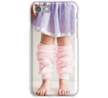 Little girl in pink leg warmers iPhone Case/Skin