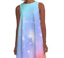 Wishes and Rainbows A-Line Dress