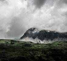 Clouds over Cader Idris Sticker