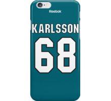 San Jose Sharks Melker Karlsson Jersey Back Phone Case iPhone Case/Skin