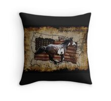 Pony Express Pinto Horse Delivering US Mail Throw Pillow